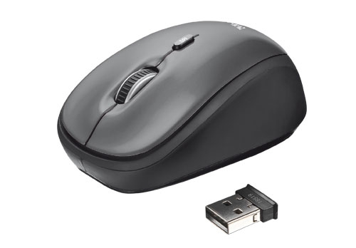 Trust Yvi Wireless Mini Mouse Grey