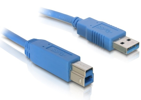 DeLock Cable USB 3.0 type-A male > USB 3.0 type-B male 5m Blue