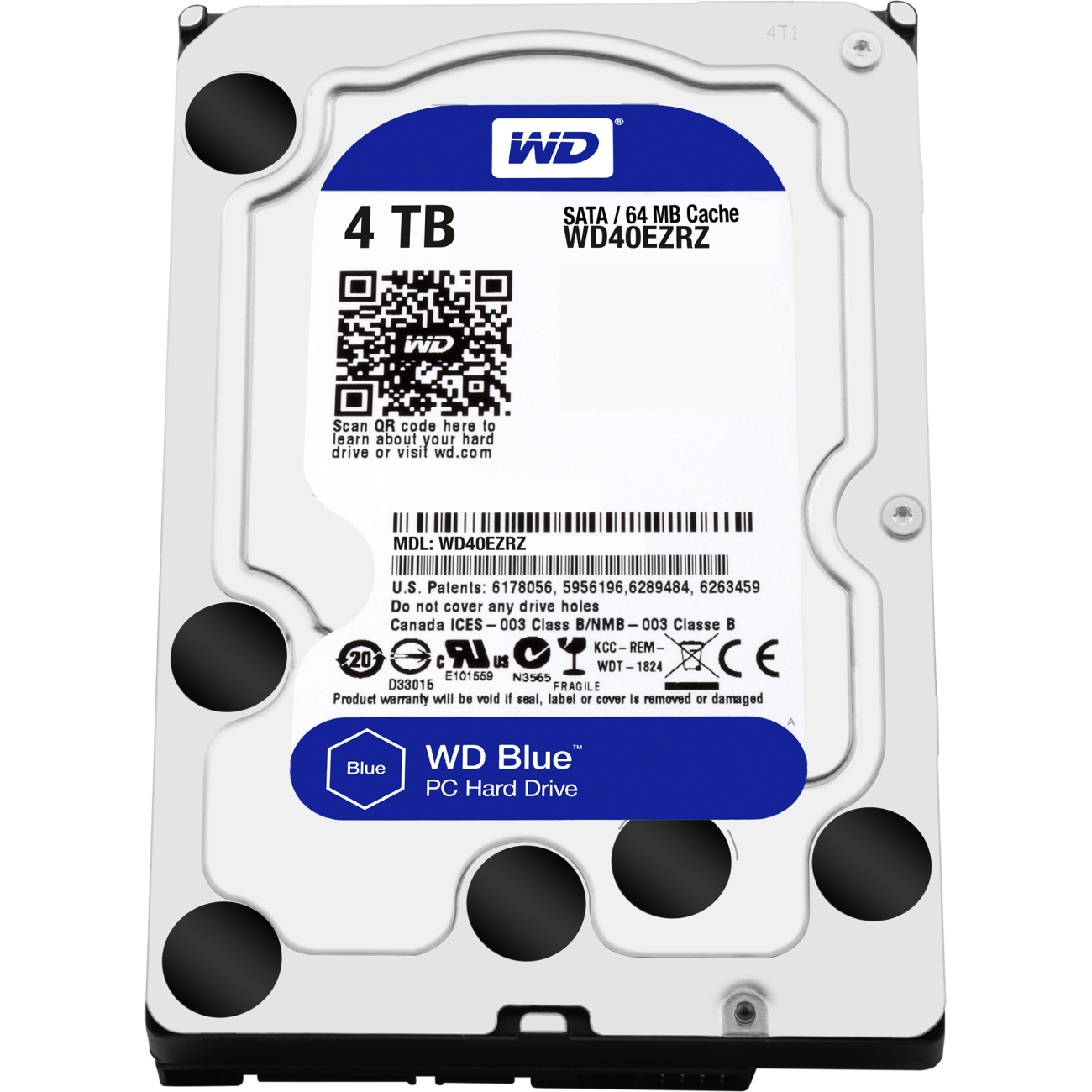 Western Digital 4TB 5400rpm SATA-600 64MB Blue WD40EZRZ