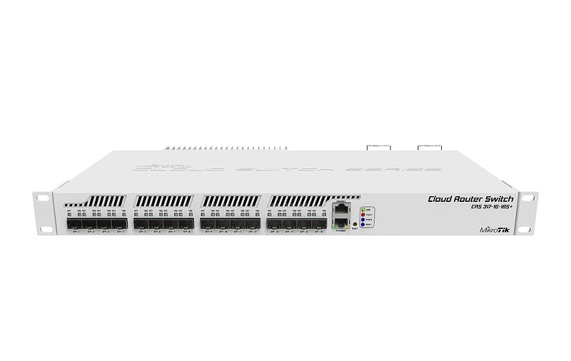 """Mikrotik RouterBoard CRS317-1G-16S+RM 1xGbE LAN 16xSFP+ 19"""" Rackmount Cloud Router Switch"""