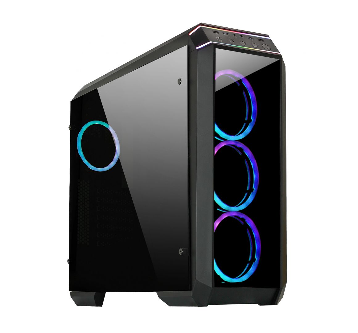 Chieftec Stallion II GP-02B-OP RGB Tempered Glass Gamer Black