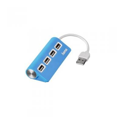 Hama BusPower USB2.0 Hub 4port Blue