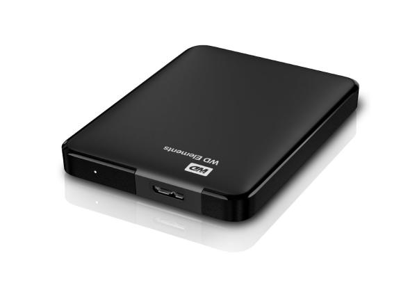 "Western Digital 1TB 2,5"" Elements Black USB 3.0 WDBUZG0010BBK-EESN"