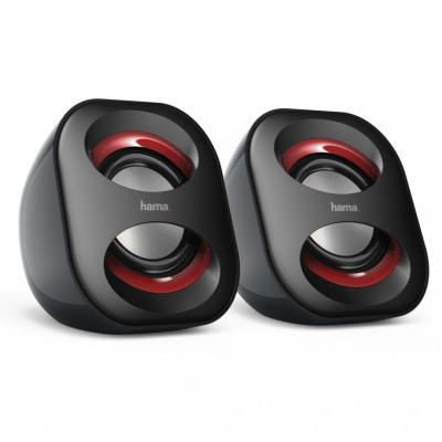 Hama Sonic Mobil 183 Notebook Speaker Black/Red