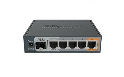 Mikrotik RouterBoard hEX S RB760iGS L4 256MB 5x GbE port 1x GbE SFP router