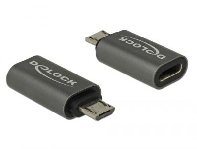 DeLock USB2.0 Micro-B apa - USB Type-C 2.0 anya adapter
