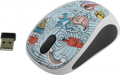 Logitech M238 Wireless Mouse Doodle Collection/Bae-Bee Blue