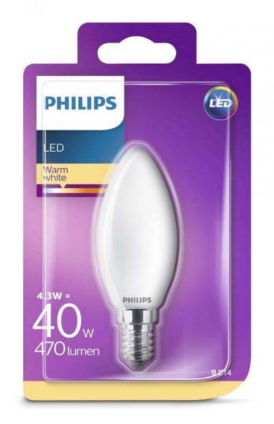 Philips LEDCLassic candle 4.3-40W B35 E14 827 FR ND RF