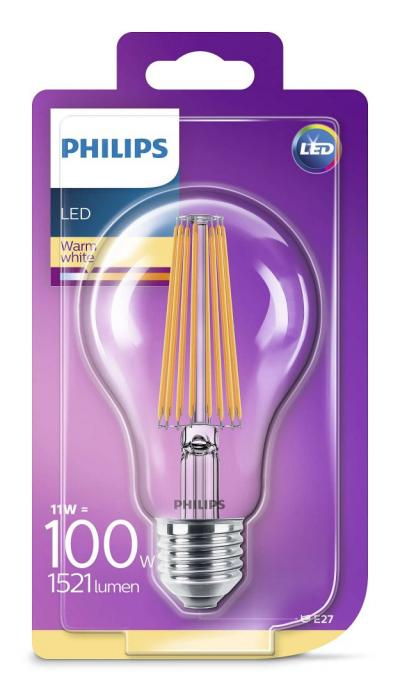 Philips LEDClassic bulb 11-100W A67 E27 827 CL ND RF