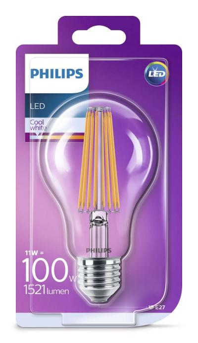 Philips LEDClassic bulb 11-100W A67 E27 840 CL ND