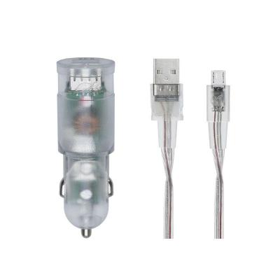 RivaCase RivaPower VA4223 TD1 car charger (2xUSB/3,4A), with Micro USB cable Transparent