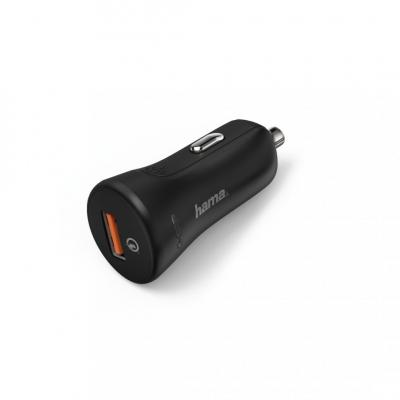 Hama Qualcomm Quick Charge 3.0 Car Charger Black