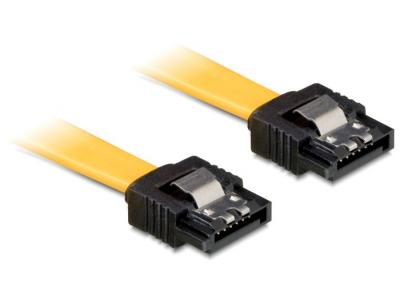 DeLock Cable SATA 6 Gb/s male straight > SATA male straight 20 cm Yellow Metal