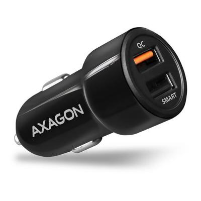 AXAGON PWC-QC5 QC3.0 + 2.4A Car Charger Black