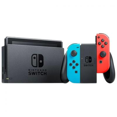 Nintendo Switch Video Game Console with Neon Joy-Con Red/Blue