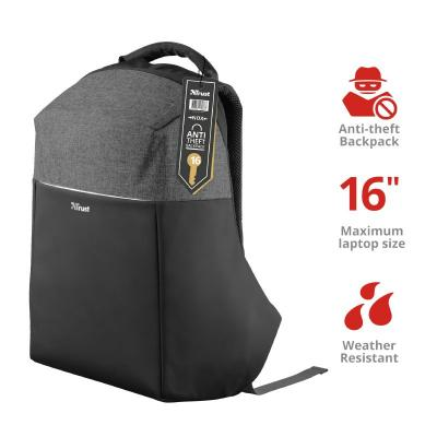"""Trust Nox Anti-theft Backpack for 15,6"""" laptops Black"""