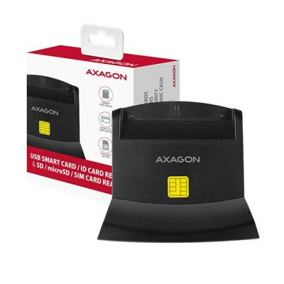 AXAGON CRE-SM2 USB Smart Card ID Card Reader & SD/microSD/SIM Card Reader
