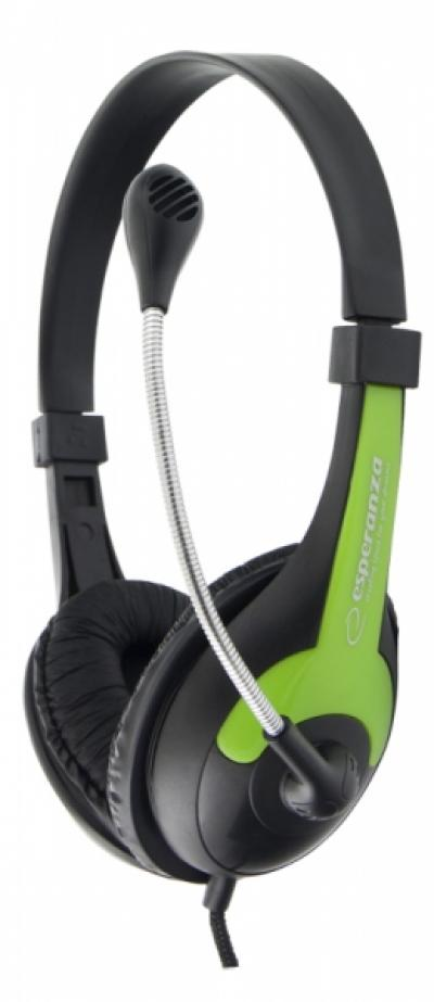 Esperanza Rooster Headset Black/Green