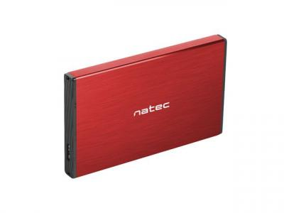 natec Rhino Go External HDD Enclosure Red