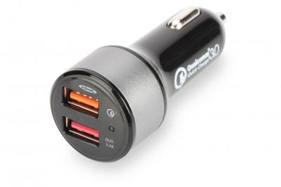 Ednet Quick Charge 3.0 Car Charger, 2 Port