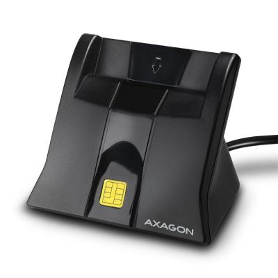 AXAGON CRE-SM4 USB Smart Card/ID Card StandReader