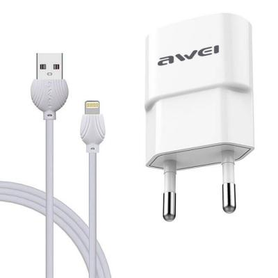Awei C-832 Wall Charger + Lighting cable White