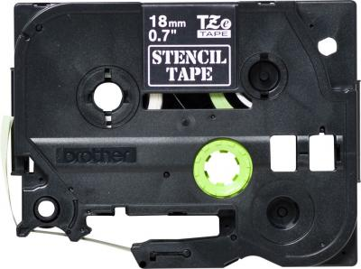 Brother STe-141 P-touch stencil szalag (18mm) Black on White