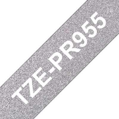 Brother TZe-PR955 laminált P-touch flexibilis szalag (24mm) Black on Grey - 8m