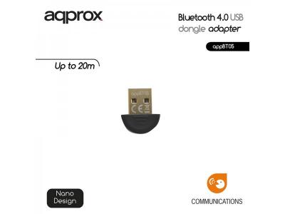 Approx APPBT05 Bluetooth 4.0 USB Adapter Black