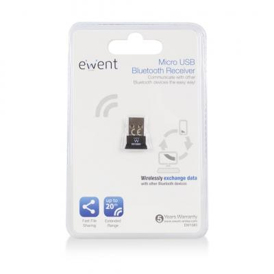 Ewent Micro Bluetooth 4.0 USB Adapter Black