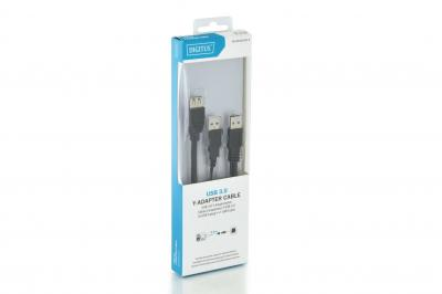 Digitus USB 3.0 Y-adapter cable, type 2xA - A