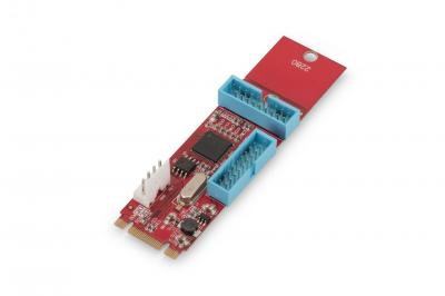 Digitus PCIe adaptercard NGFF(M.2) to 2ports 19pin USB3.0