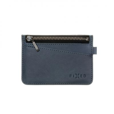 FIXED Leather wallet Smile Coins with smart tracker Smile PRO, blue