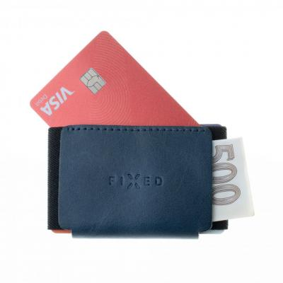 FIXED Leather wallet Smile Tiny Wallet with smart tracker Smile PRO, blue