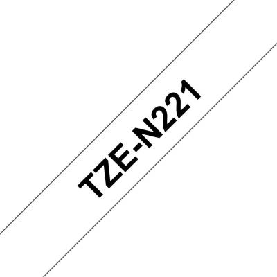 Brother TZe-N221 P-touch szalag (9mm) Black on White - 8m