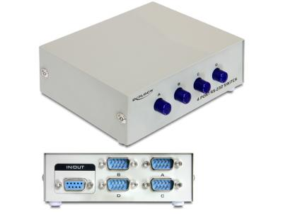 DeLock Serial Switch RS-232 / RS-422 / RS-485 4-port manual