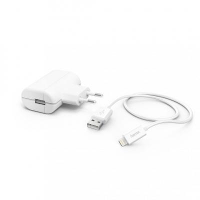 Hama Charger 2,4A with Lightning->USB Cable White