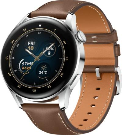 Huawei Watch 3 Brown Leather Silver