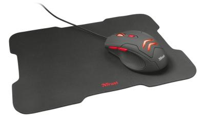 Trust Ziva Gaming mouse with mouse pad Black
